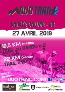 DUO TRAIL SAINTE BAUME Mazaugues