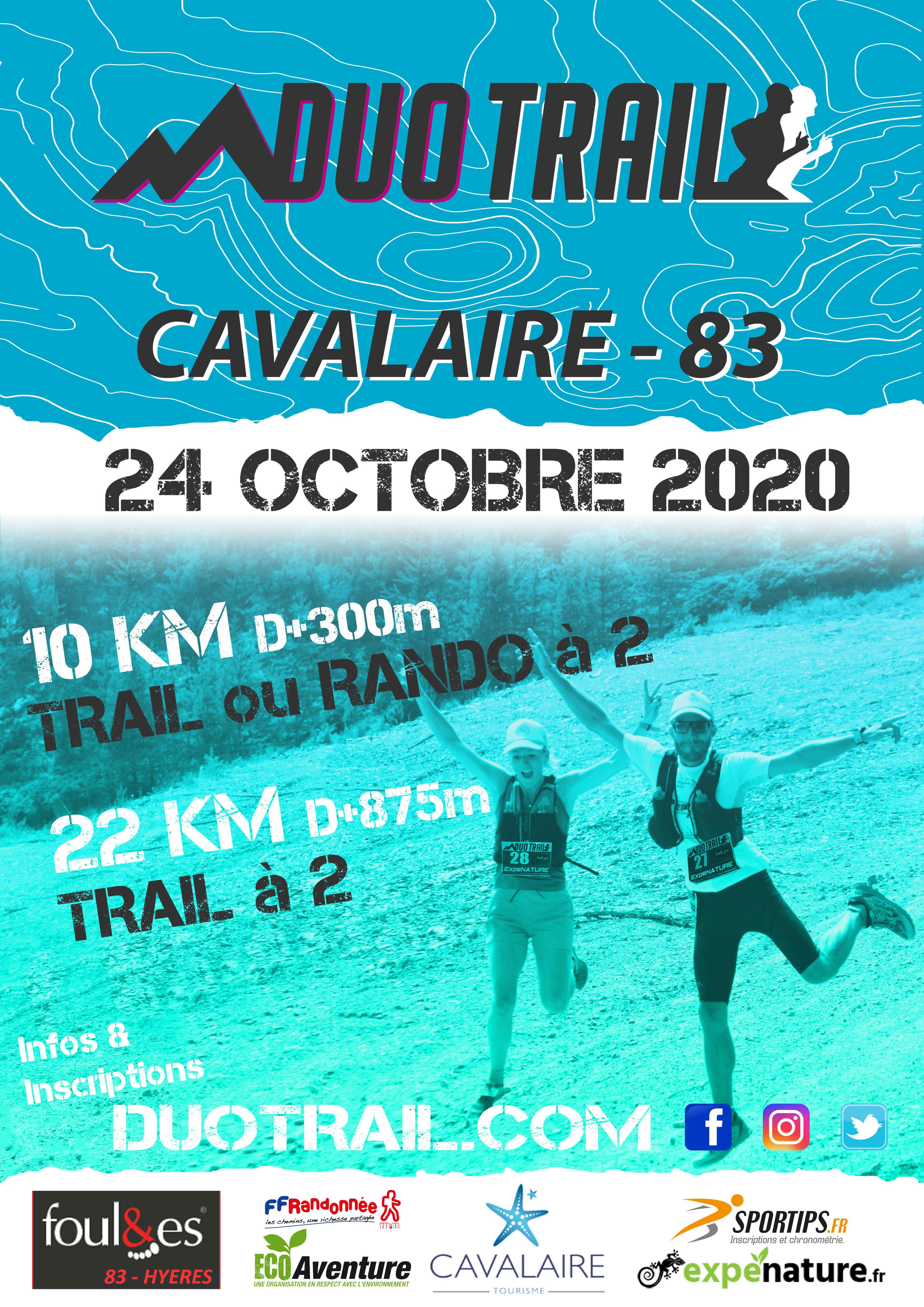 DUO TRAIL CAVALAIRE COTE D AZUR 24 octobre 2020