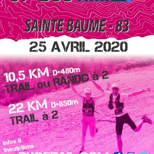 DUO TRAIL SAINTE BAUME MAZAUGUES 25 avril 2020