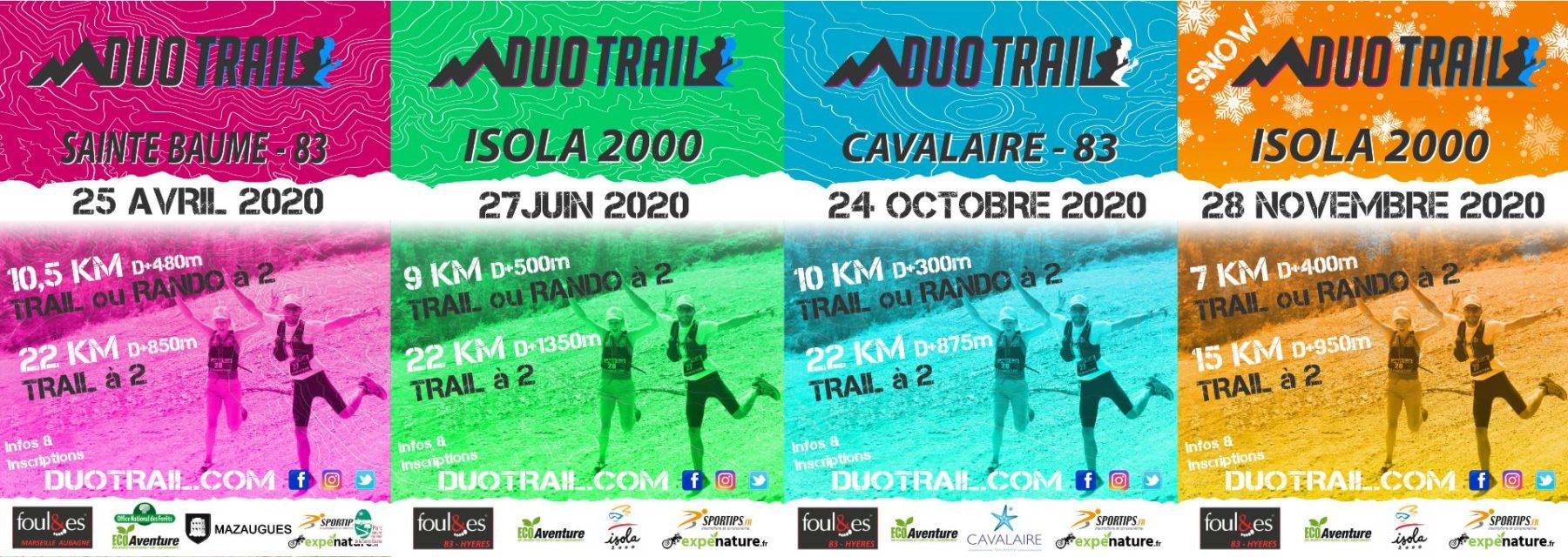 Course à pied en DUO CHALLENGE 2020 sur 4 courses