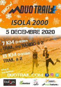 SNOW DUO TRAIL ISOLA 2000 MERCANTOUR 28 NOVEMBRE 2020