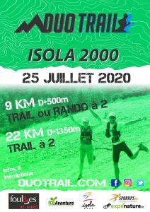 DUO TRAIL MERCANTOUR ISOLA 2000 25 juillet 2020